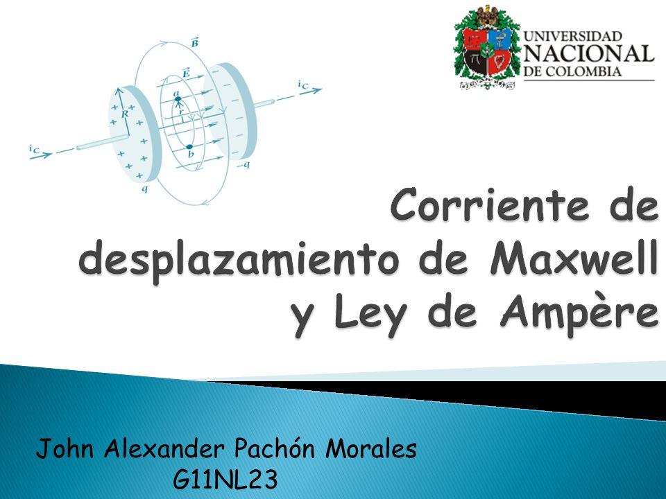 INTRODUCCIÓN: Maxwell fue capaz de generalizar la Ley de Ampère introduciendo el concepto de CORRIENTE DE DESPLAZAMIENTO, con lo que demostró que las leyes generalizadas de la electricidad y el magnetismo implican la existencia de ONDAS ELECTROMAGNÉTICAS.