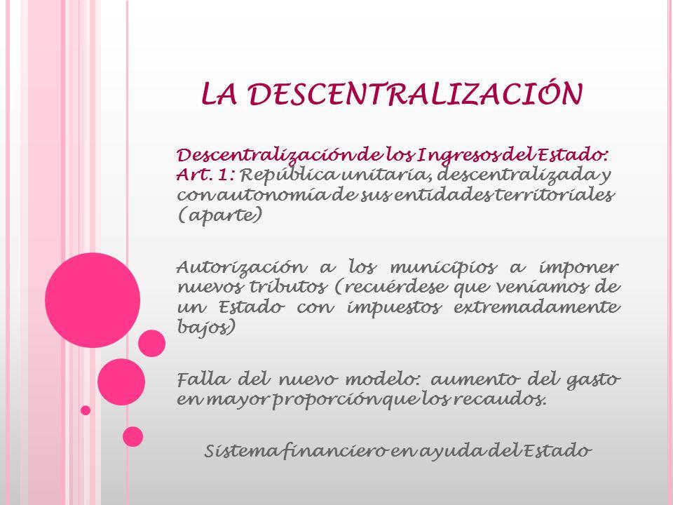 LAS BASES DE UN MERCADO CAPITAL Financiamiento voluntario: Al cual recurrió el Estado en busca de reducir la inflación.