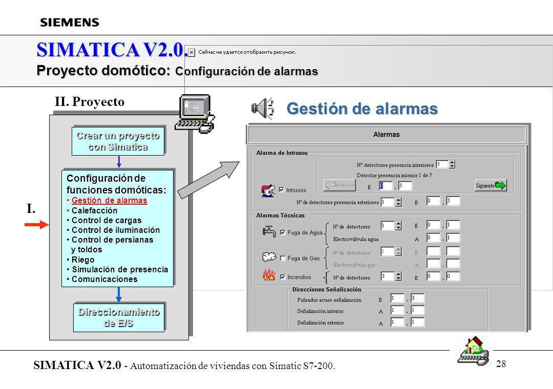 27 SIMATICA V2.0. Proyecto domótico: Intrusos y alarmas técnicas SIMATICA V2.0 - Automatización de viviendas con Simatic S7-200. Crear un proyecto con