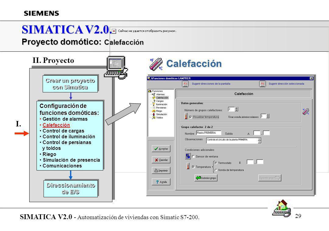 28 SIMATICA V2.0. Proyecto domótico: Configuración de alarmas SIMATICA V2.0 - Automatización de viviendas con Simatic S7-200. Crear un proyecto con Si