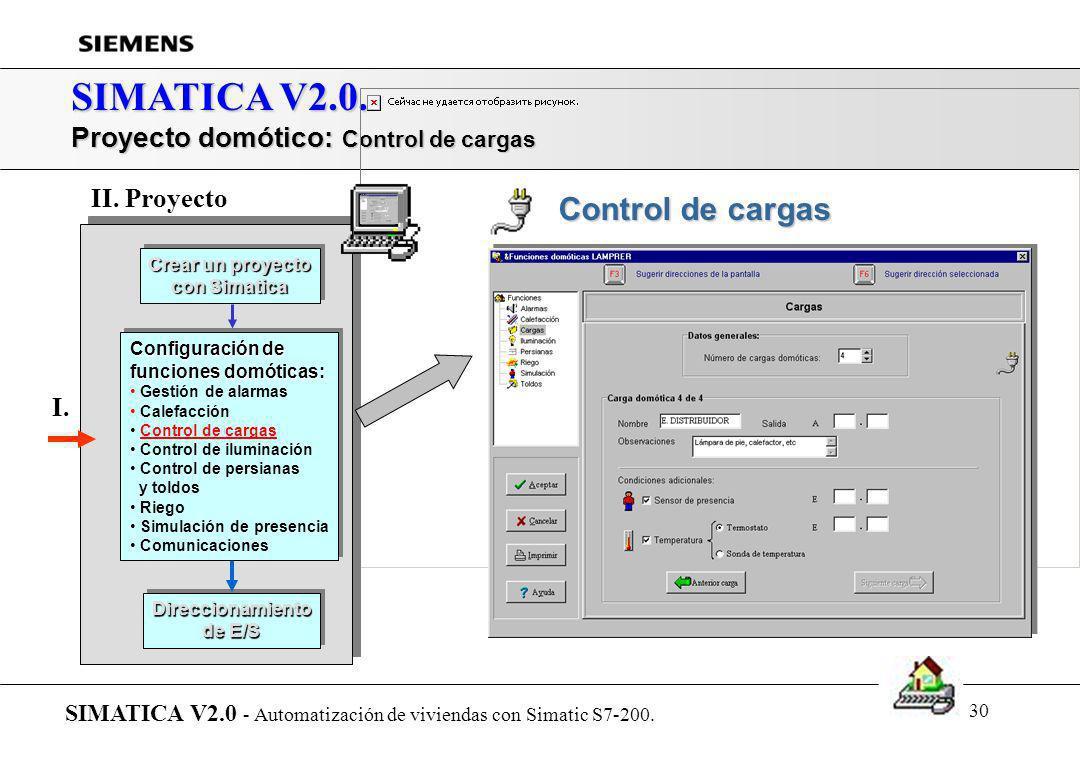 29 SIMATICA V2.0. Proyecto domótico: Calefacción SIMATICA V2.0 - Automatización de viviendas con Simatic S7-200. Crear un proyecto con Simatica Crear