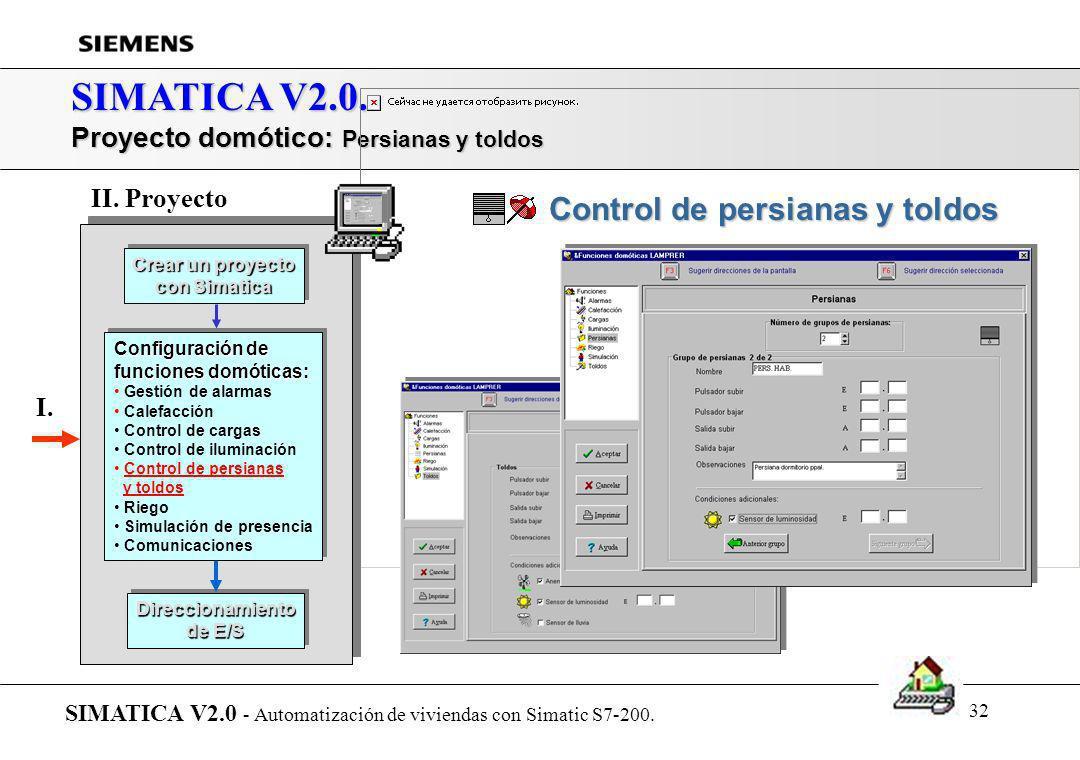 31 SIMATICA V2.0. Proyecto domótico: Luces SIMATICA V2.0 - Automatización de viviendas con Simatic S7-200. Crear un proyecto con Simatica Crear un pro