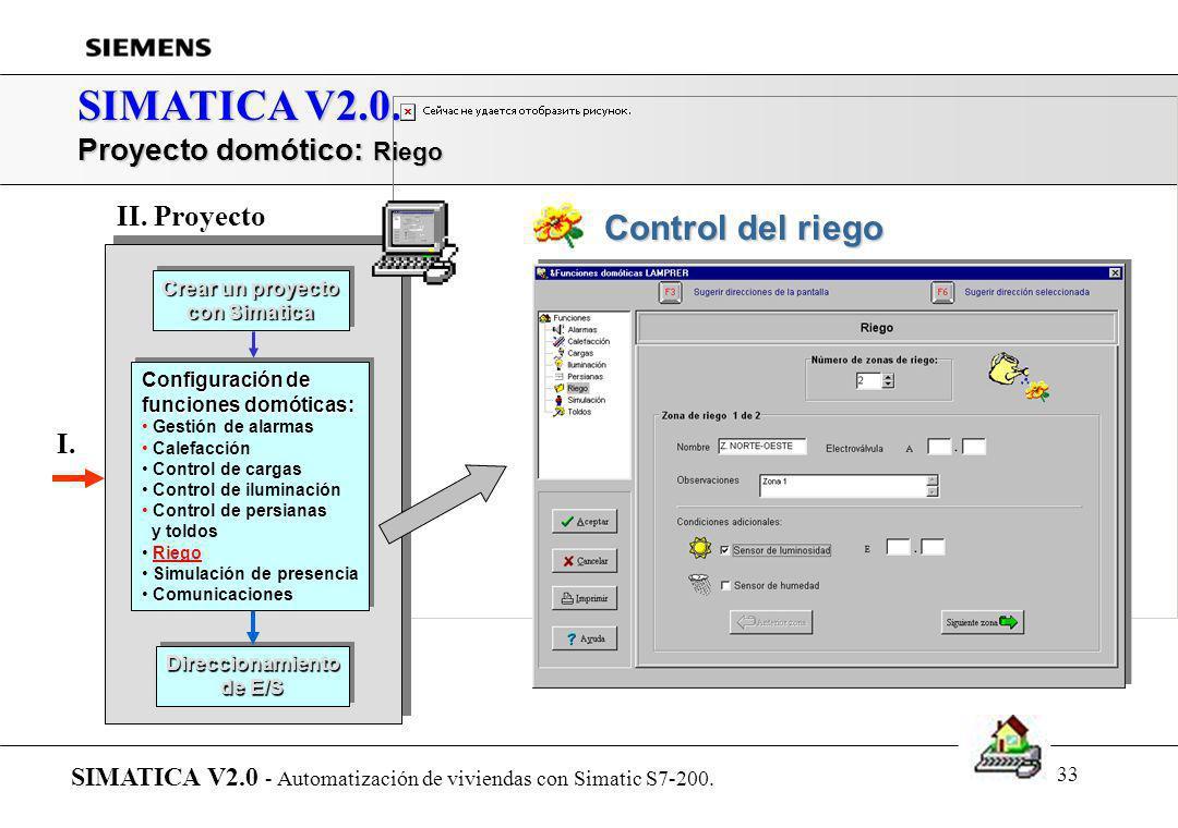 32 SIMATICA V2.0. Proyecto domótico: Persianas y toldos SIMATICA V2.0 - Automatización de viviendas con Simatic S7-200. Crear un proyecto con Simatica
