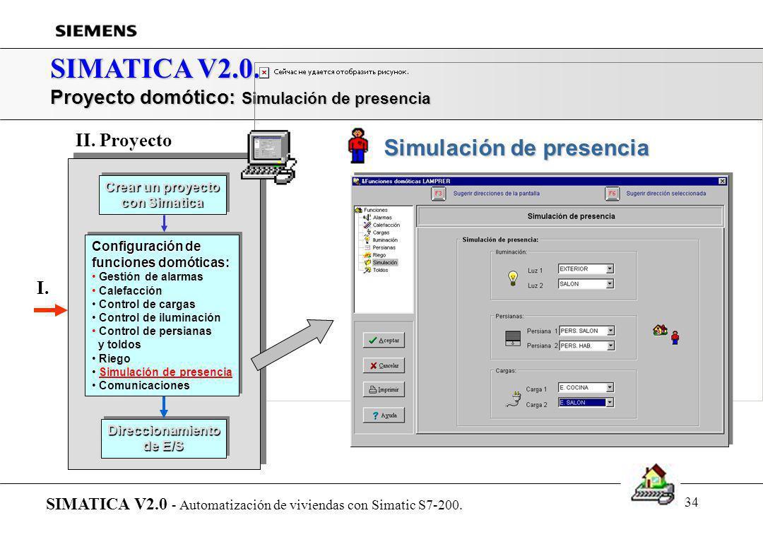 33 SIMATICA V2.0. Proyecto domótico: Riego SIMATICA V2.0 - Automatización de viviendas con Simatic S7-200. Crear un proyecto con Simatica Crear un pro