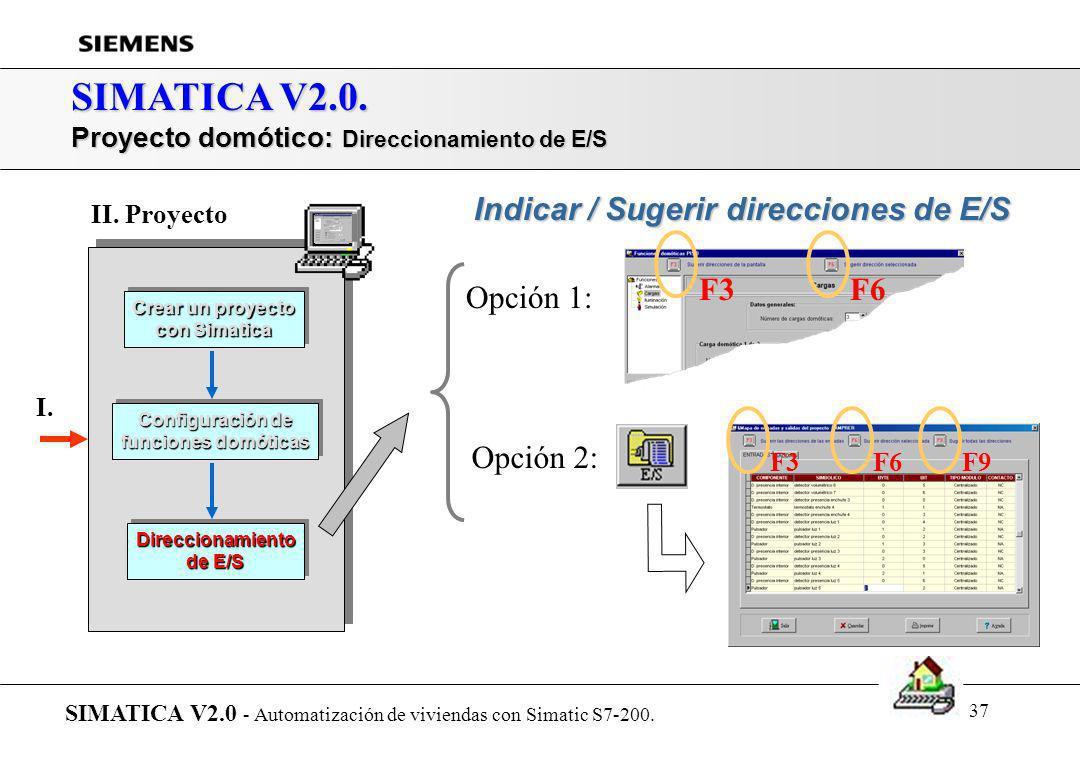 36 SIMATICA V2.0. Presentación de SIMATICA... SIMATICA V2.0 - Automatización de viviendas con Simatic S7-200. r Introducción r Arquitectura del sistem