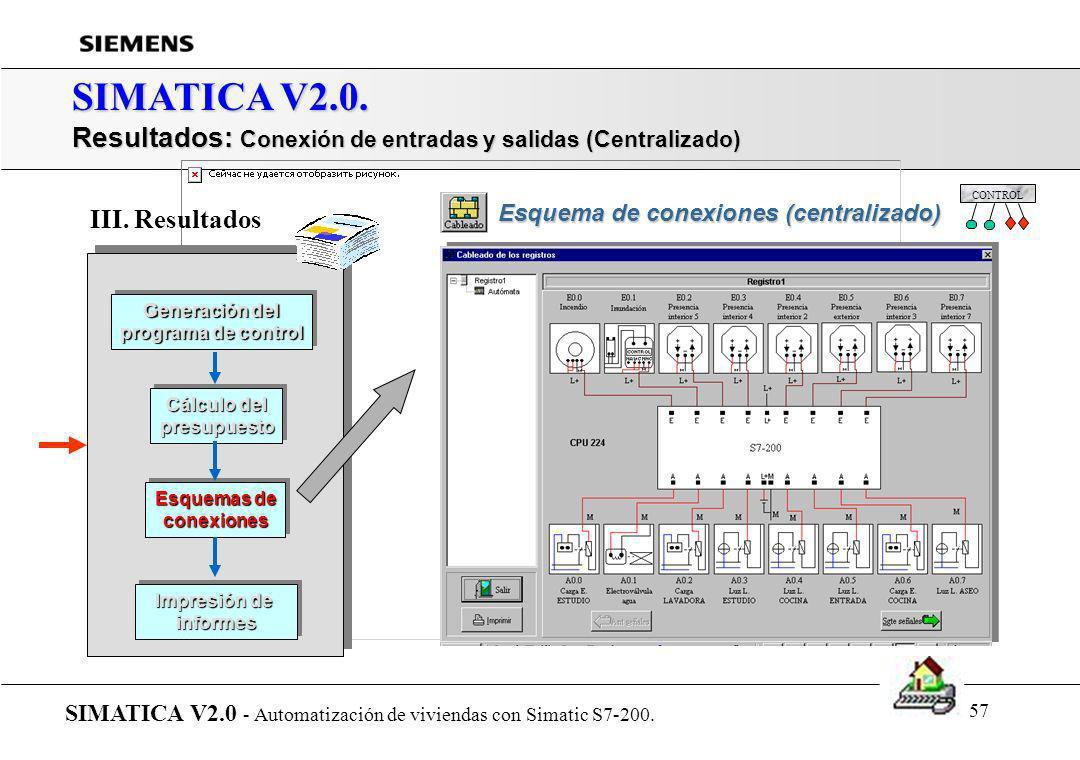 56 SIMATICA V2.0. Presentación de SIMATICA... SIMATICA V2.0 - Automatización de viviendas con Simatic S7-200. r Introducción r Arquitectura del sistem