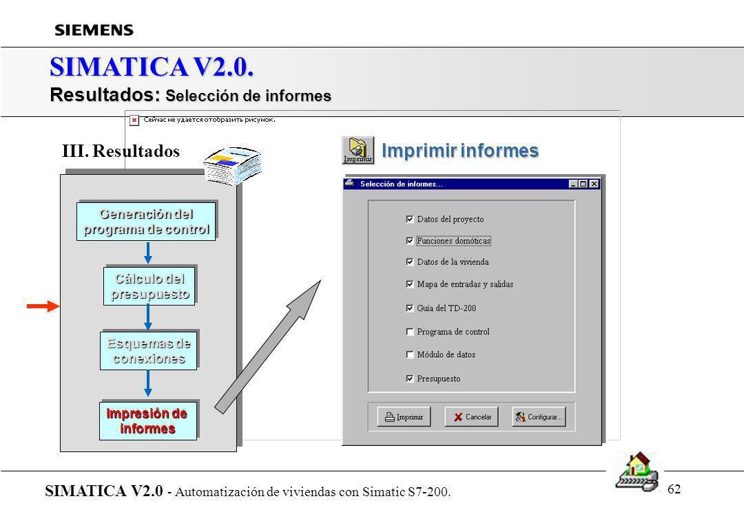 61 SIMATICA V2.0. Presentación de SIMATICA... SIMATICA V2.0 - Automatización de viviendas con Simatic S7-200. r Introducción r Arquitectura del sistem