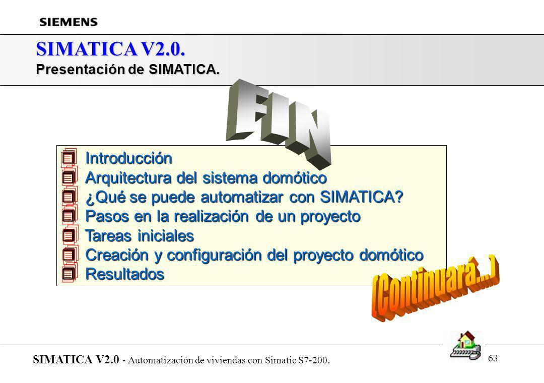 62 SIMATICA V2.0. Resultados: Selección de informes SIMATICA V2.0 - Automatización de viviendas con Simatic S7-200. Generación del programa de control