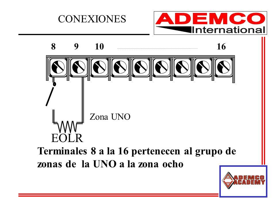 891016 Zona UNO Terminales 8 a la 16 pertenecen al grupo de zonas de la UNO a la zona ocho EOLR