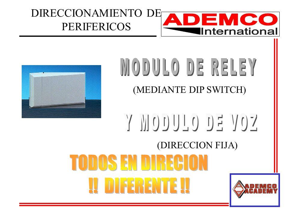 DIRECCIONAMIENTO DE PERIFERICOS (MEDIANTE DIP SWITCH) (DIRECCION FIJA)