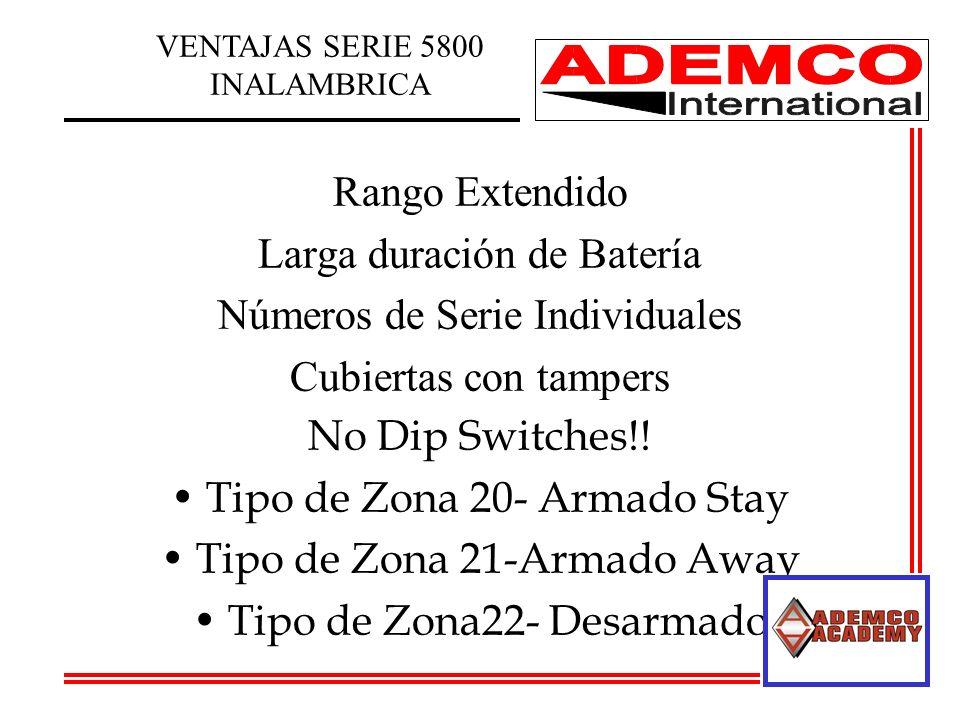 Rango Extendido Larga duración de Batería Números de Serie Individuales Cubiertas con tampers No Dip Switches!.