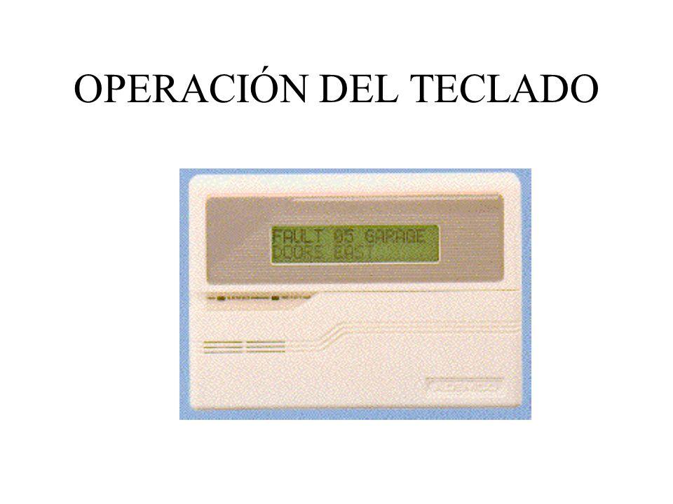 OPERACIÓN DEL TECLADO