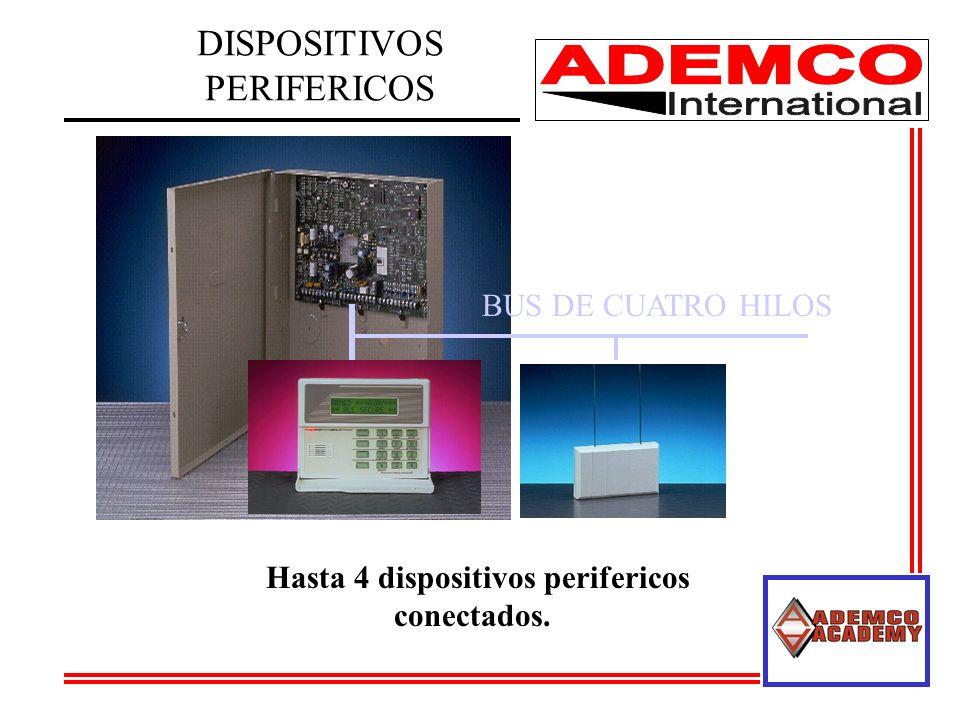 DISPOSITIVOS PERIFERICOS BUS DE CUATRO HILOS Hasta 4 dispositivos perifericos conectados.