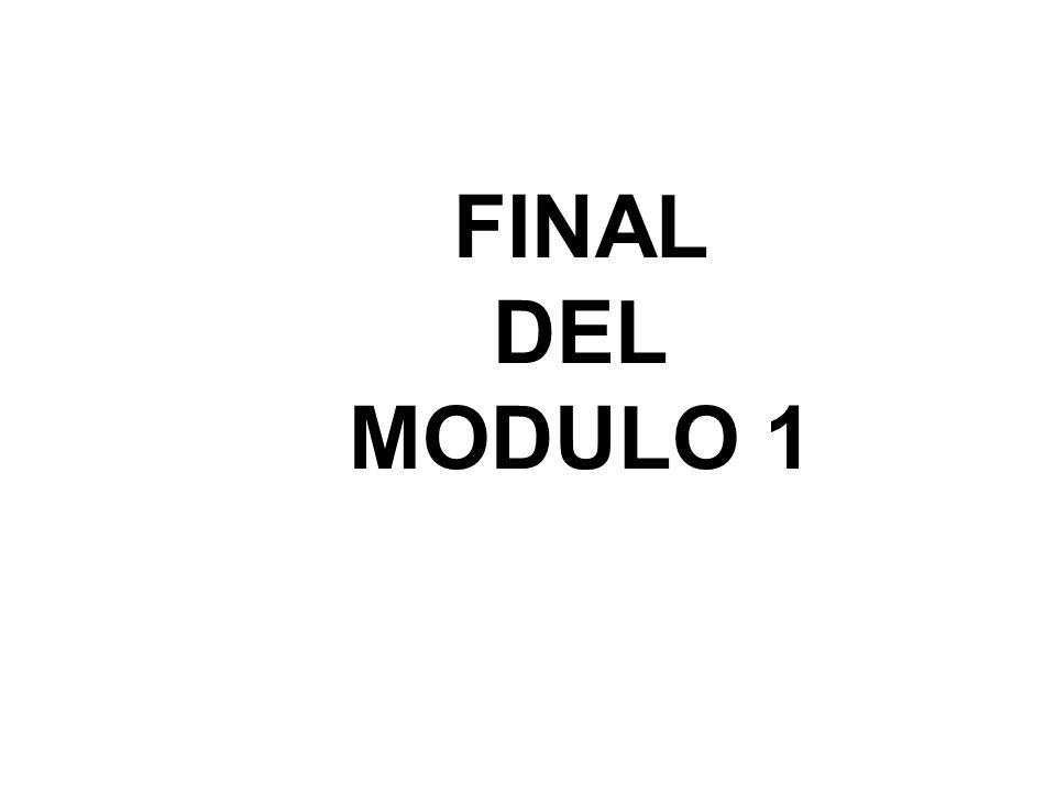 FINAL DEL MODULO 1