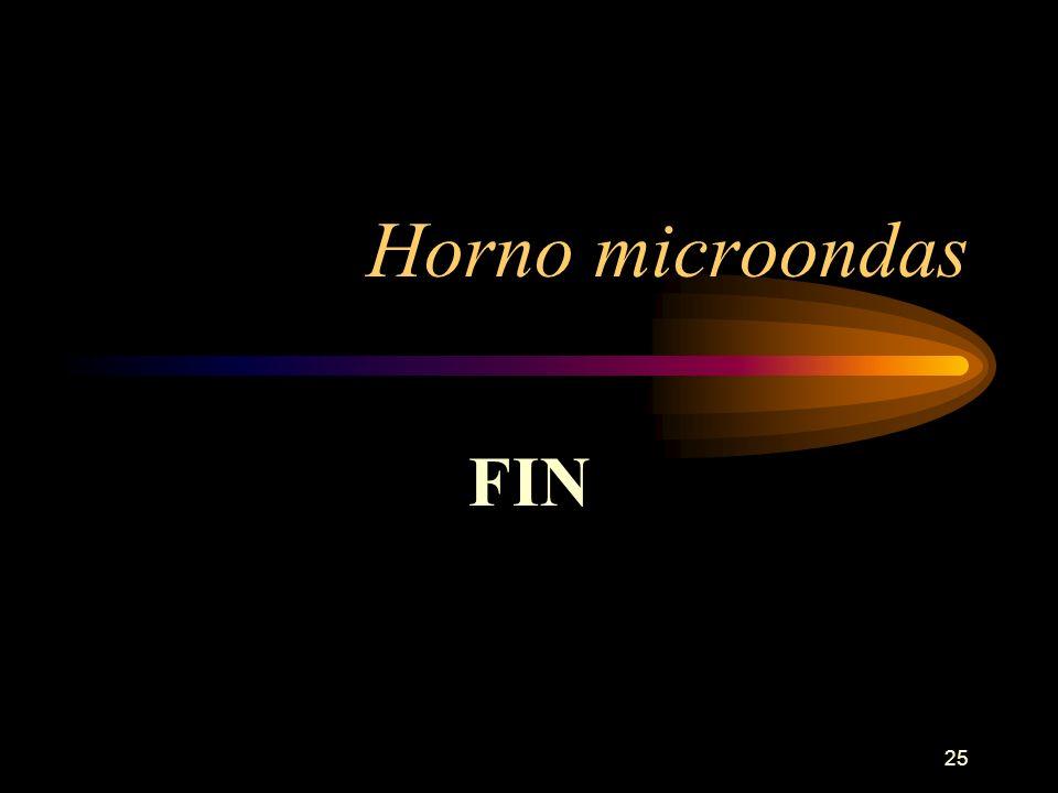25 Horno microondas FIN