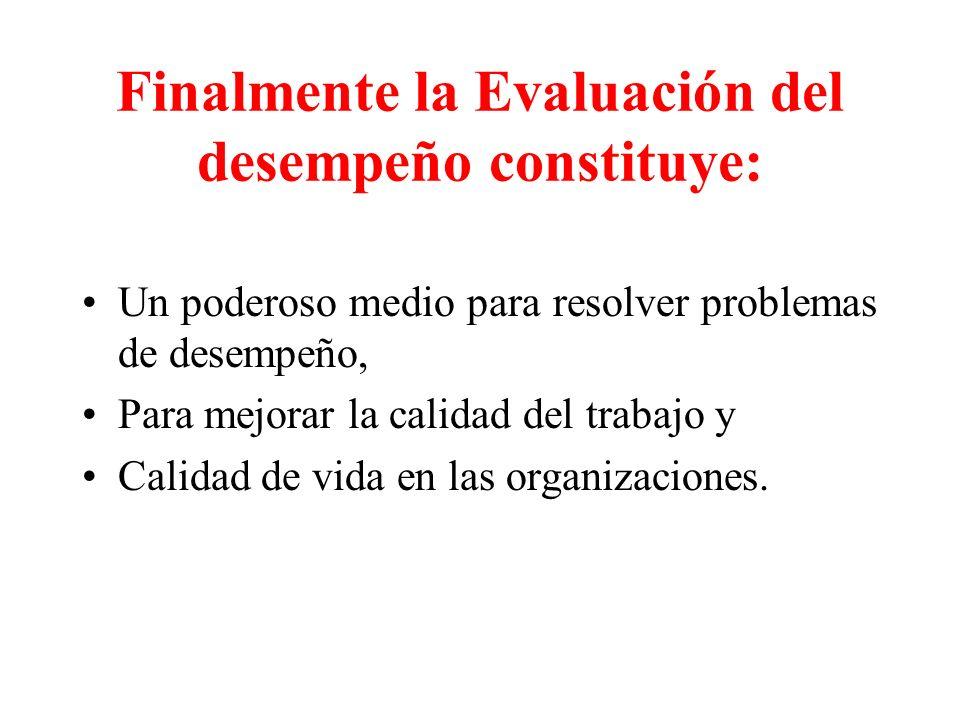 DEFINICIONES DE EVALUACIÓN DE DESEMPEÑO : La evaluación de desempeño es un proceso que mide el desempeño del empleado.