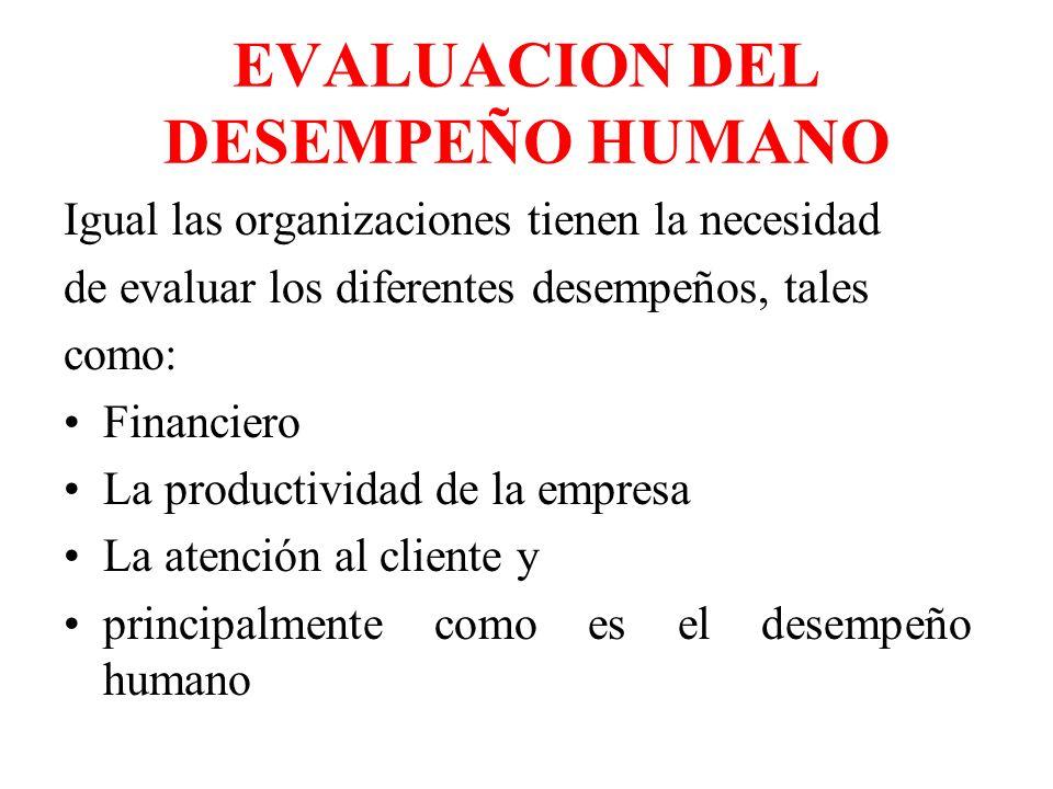 ¿Por qué evaluar el desempeño humano.