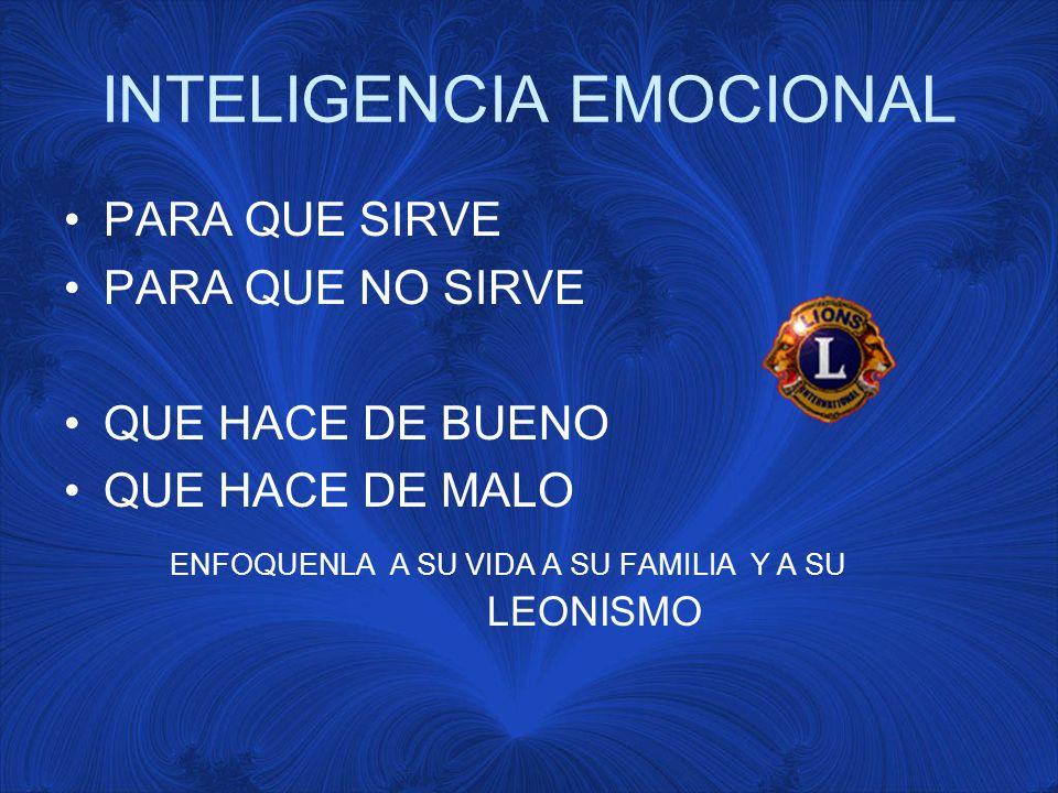 INTELIGENCIA EMOCIONAL A la INTELIGENCIA que Ve con el Cerebro La entrenamos con Computadora, Ingles, Guitarra, Karate, Natación.