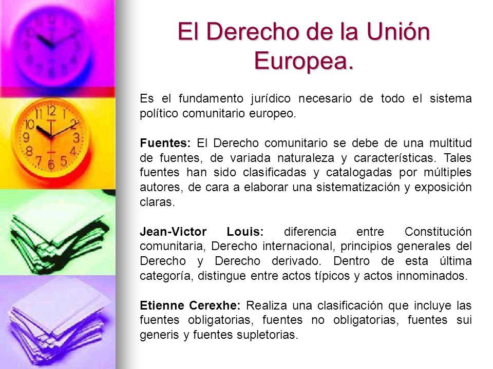 El Derecho de la Unión Europea.