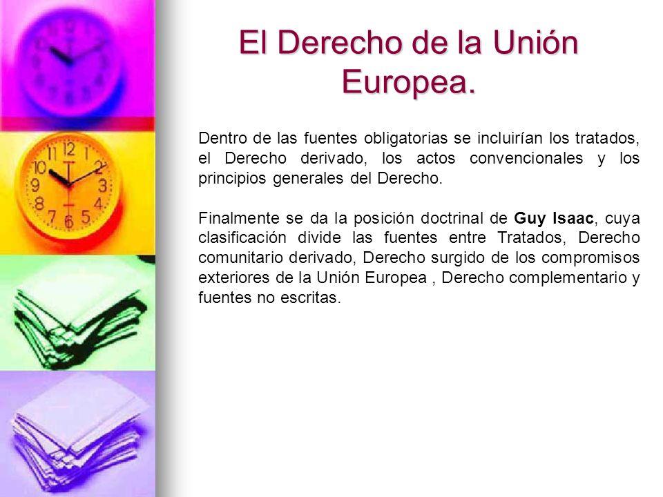 Fuentes obligatorias Jurisprudencia del Tribunal de Justicia Surge del Tribunal de Justicia de la Unión Europea.