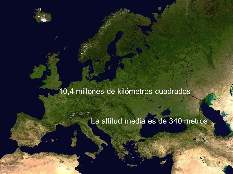 10,4 millones de kilómetros cuadrados La altitud media es de 340 metros