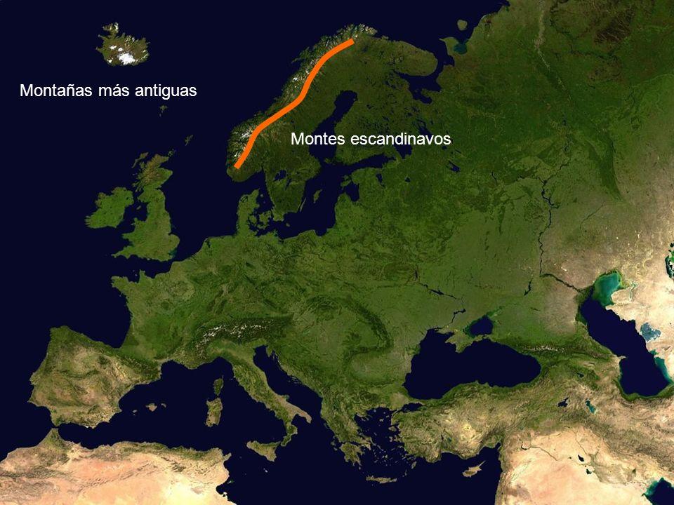 Montes escandinavos Montañas más antiguas