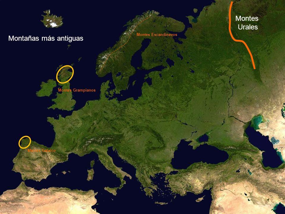 Montes Urales Montes Escandinavos Montañas más antiguas Montes Grampianos Macizo Galaico