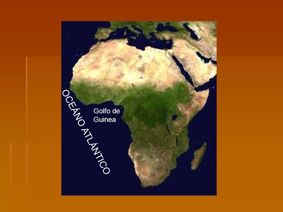 Golfo deGuinea OCEÁNO ATLÁNTICO