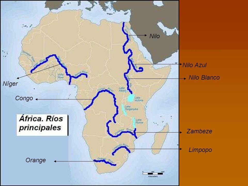 Nilo Nilo Azul Nilo Blanco Zambeze Limpopo Orange Congo Níger
