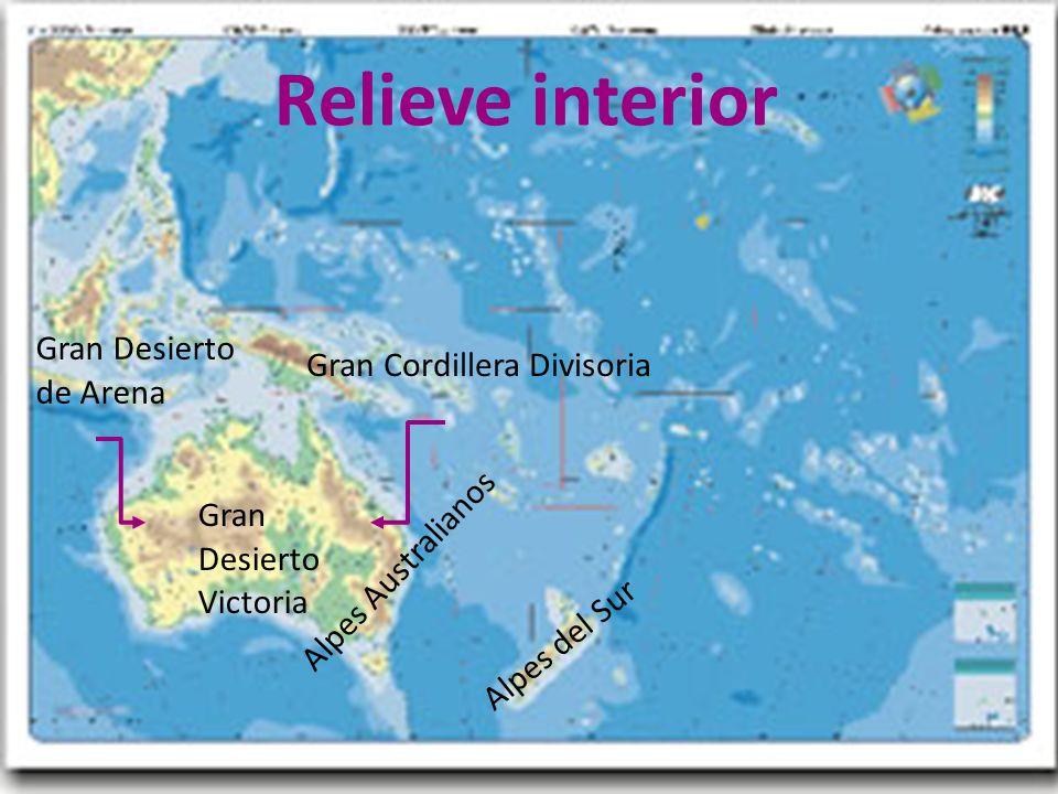 26/04/12 Relieve interior Alpes Australianos Gran Cordillera Divisoria Gran Desierto Victoria Gran Desierto de Arena Alpes del Sur