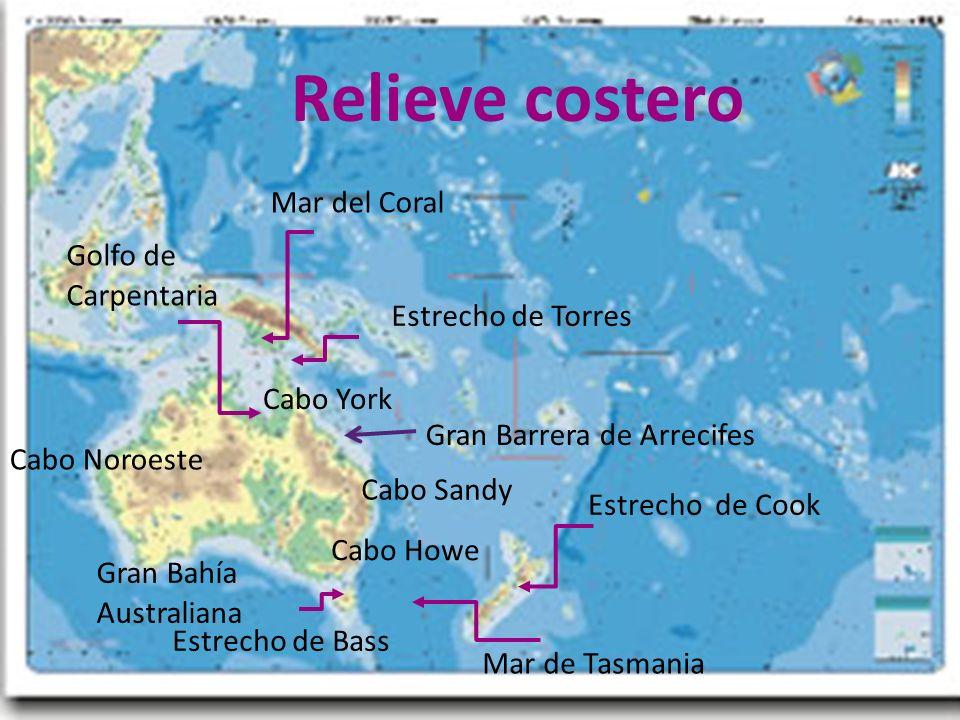26/04/12 Cabo York Cabo Howe Cabo Sandy Cabo Noroeste Golfo de Carpentaria Gran Bahía Australiana Estrecho de Torres Estrecho de Cook Estrecho de Bass