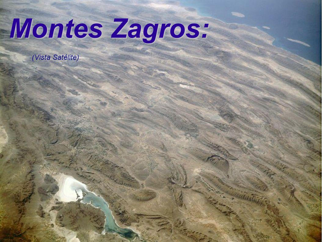 Montes Zagros: (Vista Satélite)