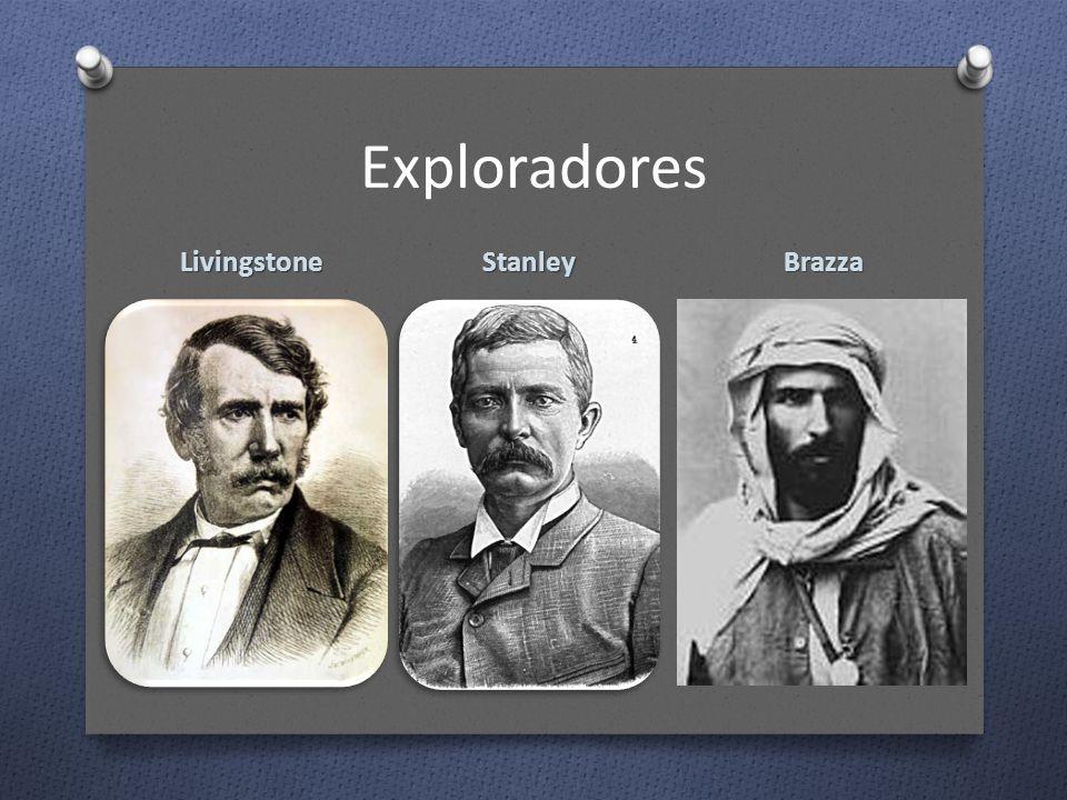 Exploradores Livingstone StanleyBrazza