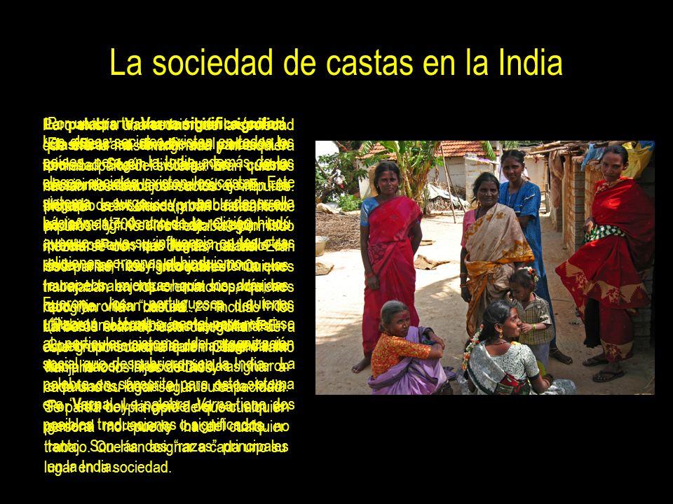 Algo sobre los intocables en la India, los Dalits De los mil millones de ciudadanos que tiene la India a 167 millones de ellos los consideran impuros,
