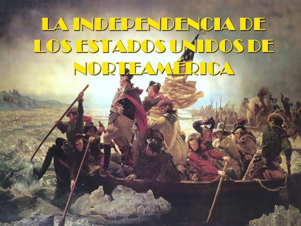 El desarrollo de la Guerra DOS FASES DE LA GUERRA: 1ª FASE (entre 1776 y 1778): La iniciativa es de los ingleses y los colonos se defienden mientras George Washington les organiza un ejercito.