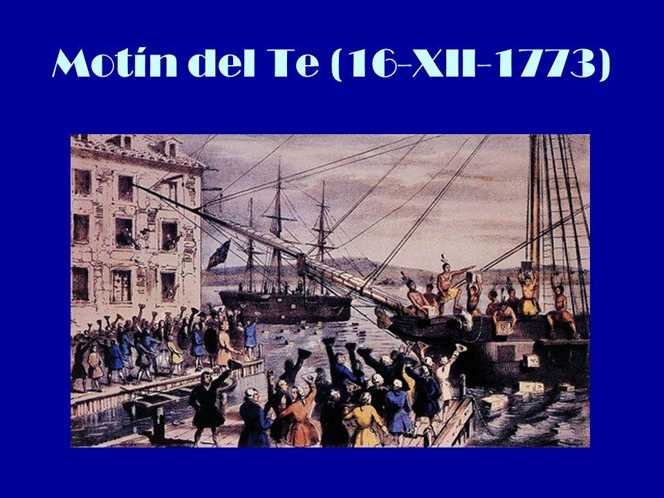El estallido de la Guerra El gobernador inglés recorta libertades.