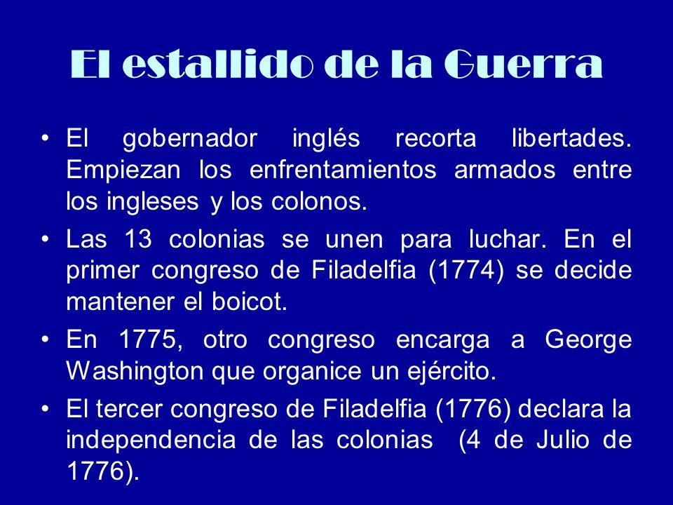 Declaración de Independencia EEUU El 4 de Julio de 1776.