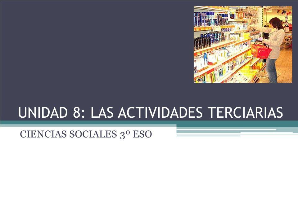 UNIDAD 8: LAS ACTIVIDADES TERCIARIAS CIENCIAS SOCIALES 3º ESO