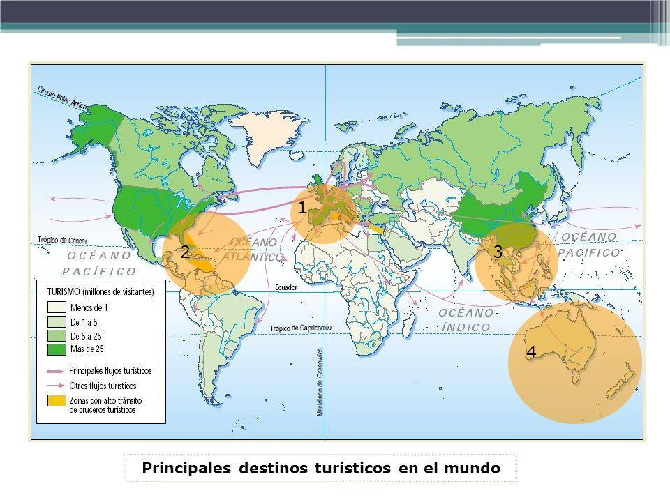 1 23 4 Principales destinos turísticos en el mundo