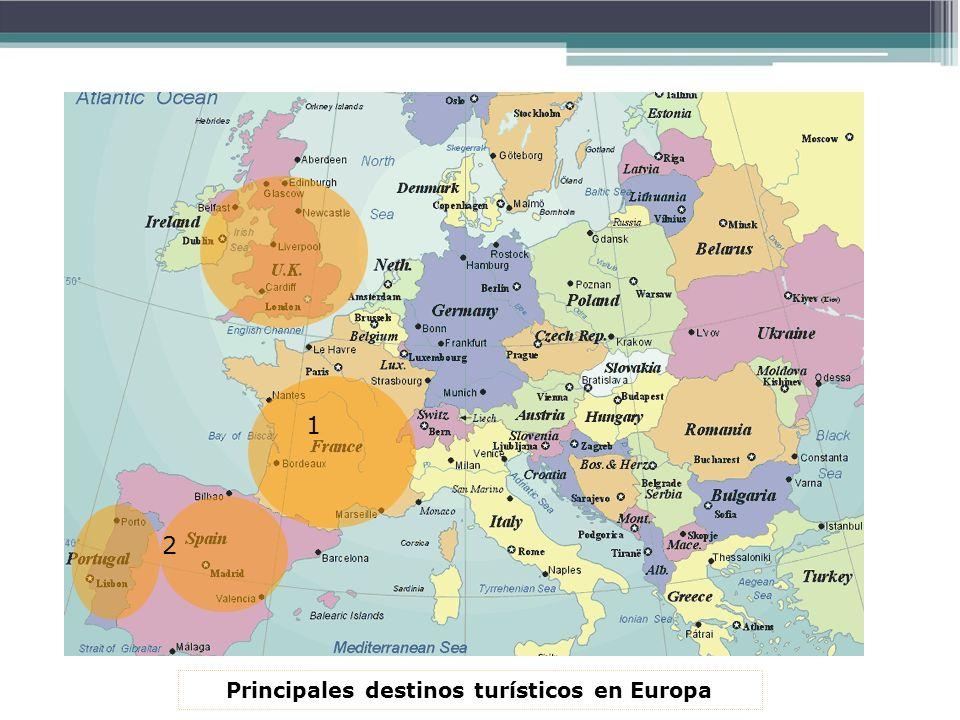 Principales destinos turísticos en Europa 1 2