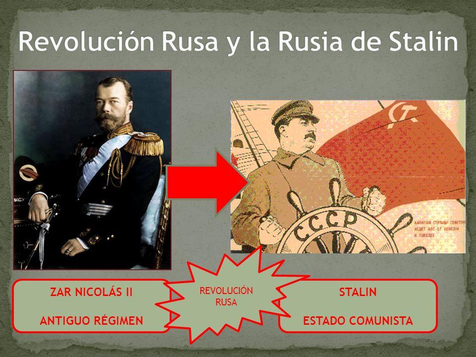 ZAR NICOLÁS II ANTIGUO RÉGIMEN STALIN ESTADO COMUNISTA REVOLUCIÓN RUSA