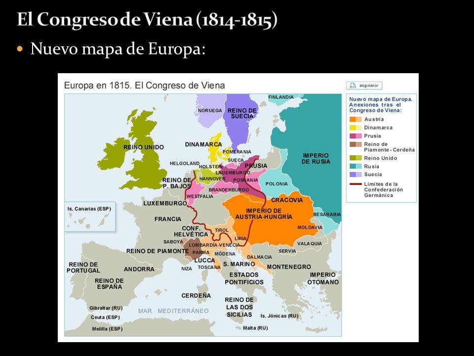 Nuevo mapa de Europa: