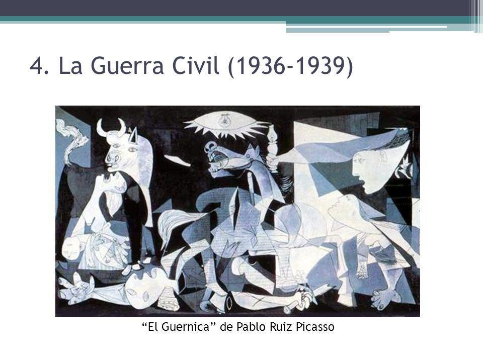 4. La Guerra Civil (1936-1939) El Guernica de Pablo Ruiz Picasso
