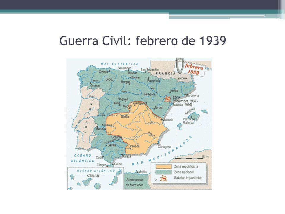Guerra Civil: febrero de 1939