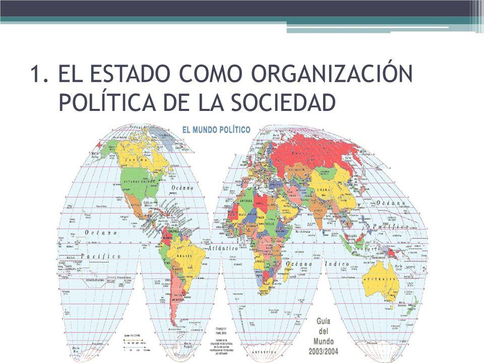 1. EL ESTADO COMO ORGANIZACIÓN POLÍTICA DE LA SOCIEDAD