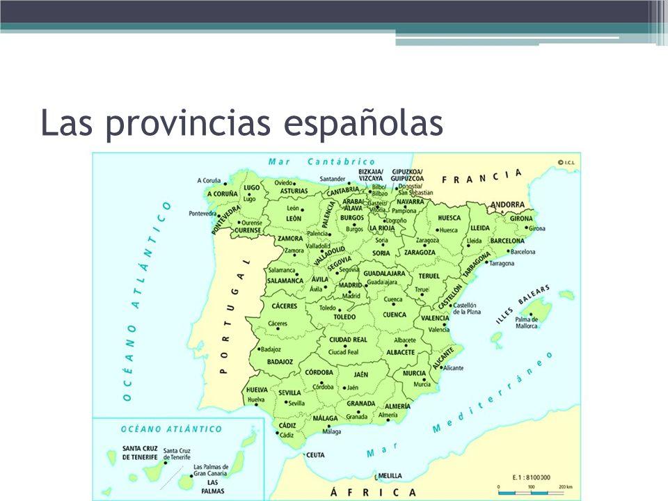Las provincias españolas