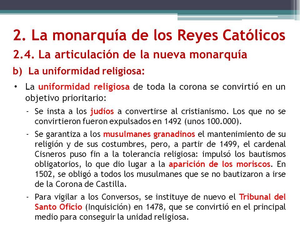 La uniformidad religiosa de toda la corona se convirtió en un objetivo prioritario: -Se insta a los judíos a convertirse al cristianismo. Los que no s