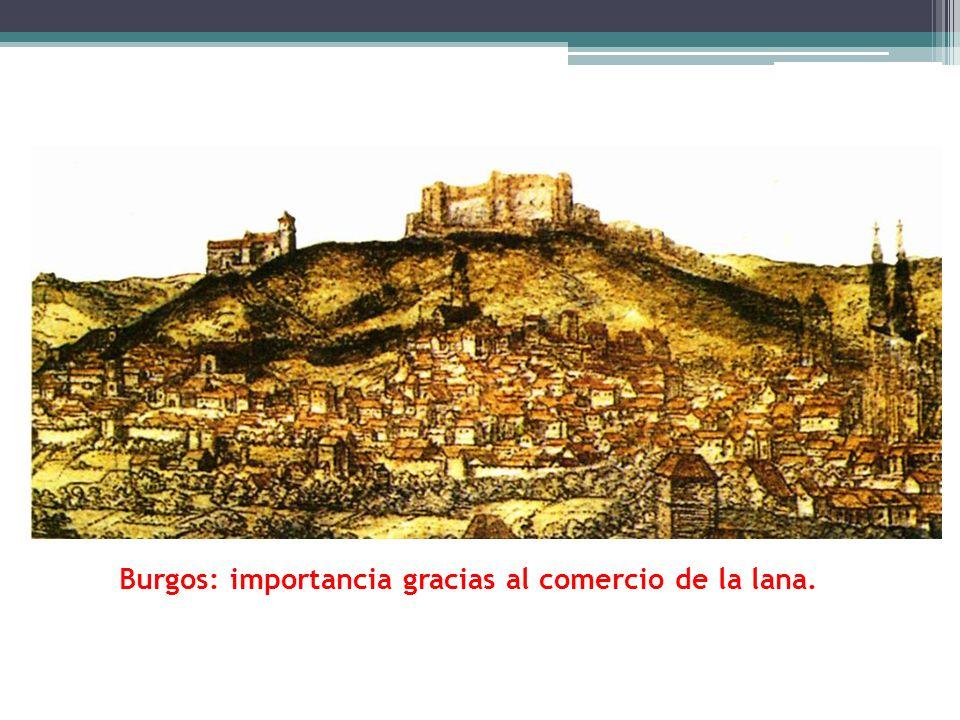 Burgos: importancia gracias al comercio de la lana.
