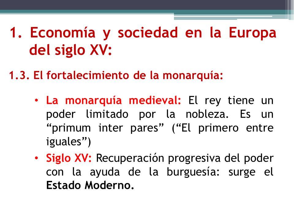 1. Economía y sociedad en la Europa del siglo XV: 1.3. El fortalecimiento de la monarquía: La monarquía medieval: El rey tiene un poder limitado por l