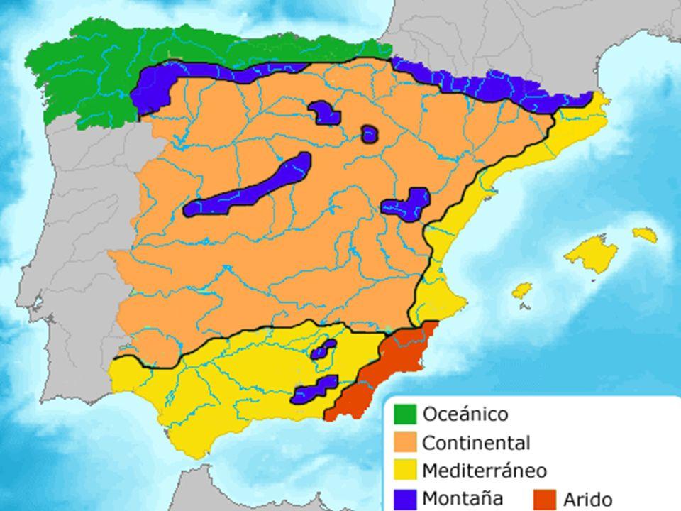 10. EL CLIMA Y EL PAISAJE EN ESPAÑA: CLIMA MEDITERRÁNEO CONTINENTALIZADO: EN EL INTERIOR DEL PAÍS CLIMA MEDITERRÁNEO COSTERO: EN TODA LA COSTA MEDITER